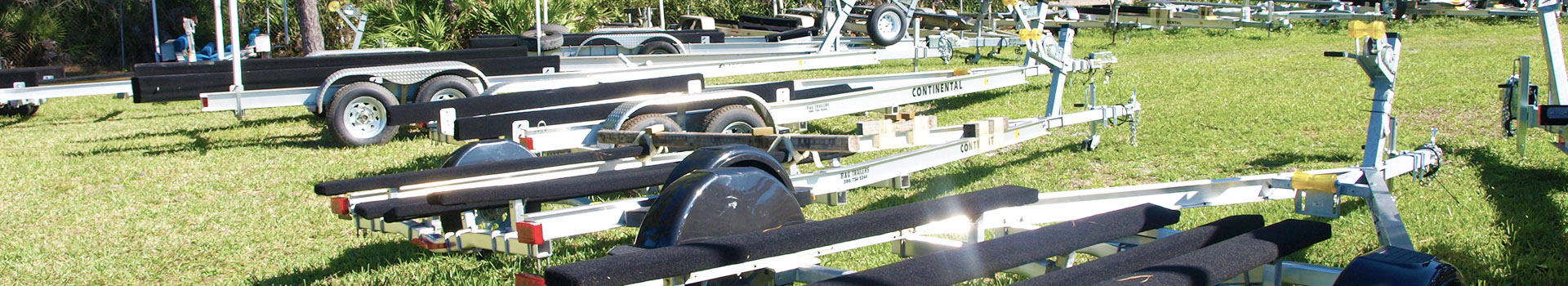 double and single axle boat trailers